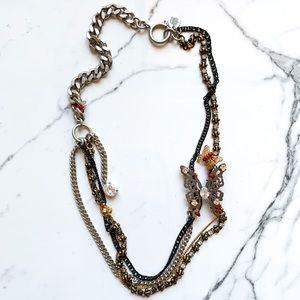 NEW Juicy Couture Layered Chain Butterfly Necklace
